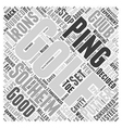Ping Golf Word Cloud Concept vector image vector image