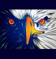 powerful eagle face vector image