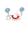 question and answer concept in doodle style vector image vector image