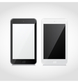 realistic black and white smart phones vector image vector image