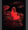 red china hand drawing landmark 3 vector image