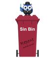Red Sin Bin vector image vector image