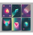 Retro trendy hipster posters 3d card with vector image