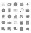 Sales and shopping silhouettes icons set vector image