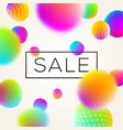 sbstract background with sale banner vector image vector image