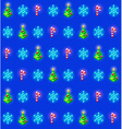 Seamless pattern with christmas trees snowflakes vector image vector image