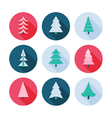set christmas trees icons vector image vector image