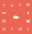 set of 13 editable cinema icons includes symbols vector image vector image