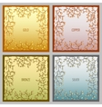 Set of 4 metal frames for text input vector image vector image