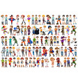 set people character vector image vector image