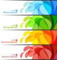 set season banners vector image vector image