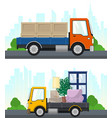 set transportation services and logistics vector image vector image