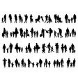 silhouettes families vector image