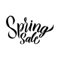 spring trendy script lettering design spring sale vector image vector image