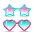 sunglasses in disco style color glasses pink and vector image vector image