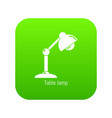 table lamp icon green vector image vector image