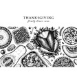 thanksgiving dinner menu design with roasted vector image vector image