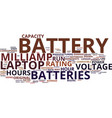 the capacity of laptop batteries explained text vector image vector image