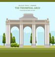 triumphal arch in blegium architecture vector image