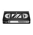 video cassette monochrome vector image