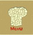 Vintage Menu Card Designs with chefs hat vector image vector image