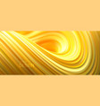 yellow striped wave liquid flowing shape vector image vector image