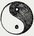 Ying yang sketch symbol vector | Price: 1 Credit (USD $1)