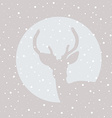 Deer stag icon with snowflakes vector image