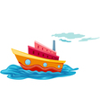 isolated yacht vector image
