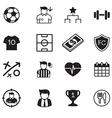 Soccer football club icons set vector image