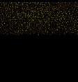 gold glitter seamless border vector image