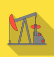 oil pumpoil single icon in flat style vector image