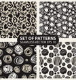 set of abstract graphic patterns circles and heart vector image