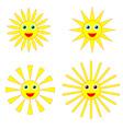 Sun smiles collection vector image
