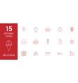 15 delicious icons vector image vector image