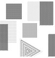 abstract background with squares and triangles vector image vector image