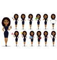 african american business woman set vector image