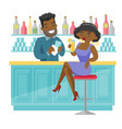 african-american woman sitting at the bar counter