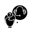 audio task black icon concept vector image vector image