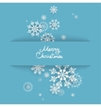 background with snowflakes vector image vector image