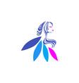 beauty care women logo icon design vector image
