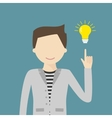 Big Idea Concept with Man and Lightbulb vector image