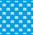 binary code pattern seamless blue vector image vector image