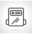 Black line gas counter icon vector image vector image