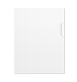 Blank Document and folder isolated on white vector image vector image
