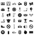 boxing bag icons set simple style vector image vector image