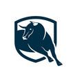 bull head logo design vector image vector image