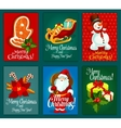 Christmas and New Year holidays greeting card set vector image vector image