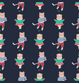 christmas seamless pattern11 vector image vector image