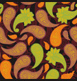 classic native paisleys seamless pattern for vector image vector image
